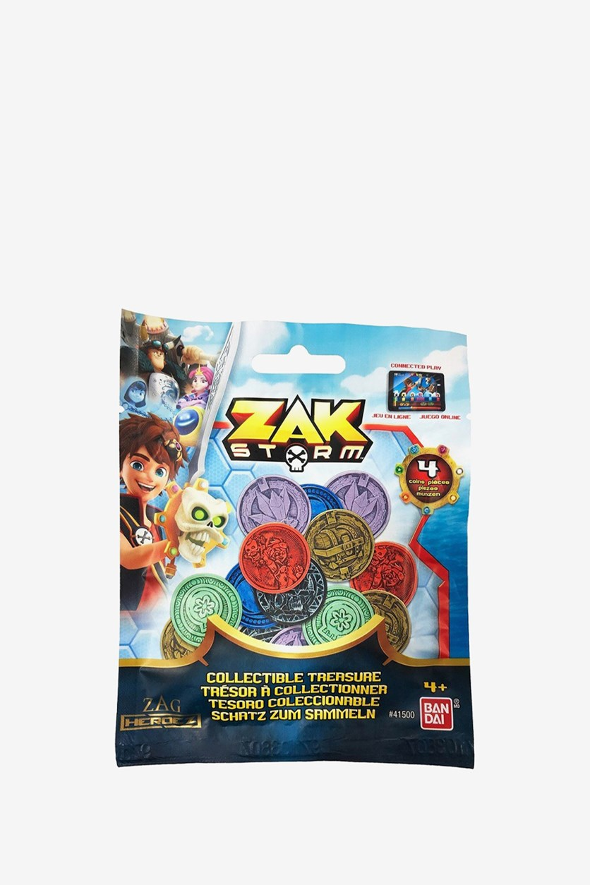 Zak Storm Collectable Coins, Blue Combo