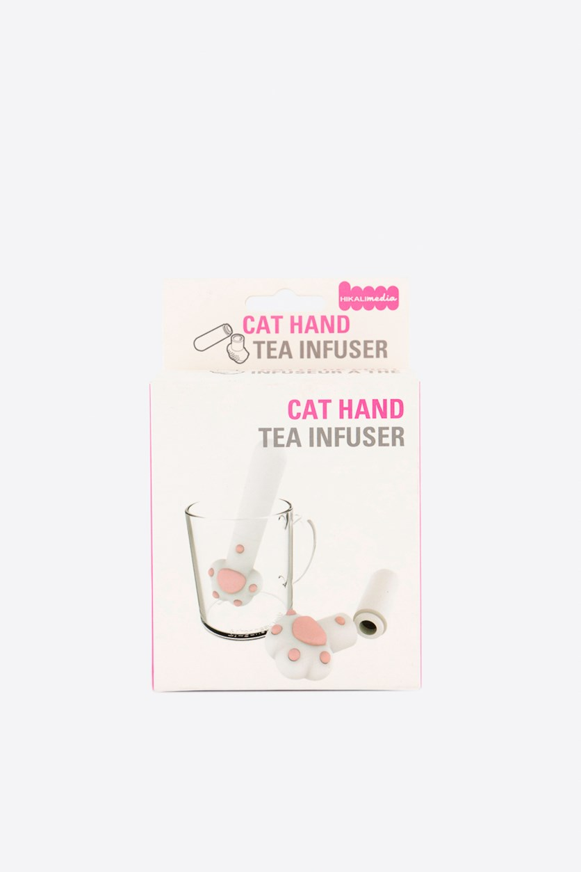 Cat Hand Tea Infuser, White/Pink