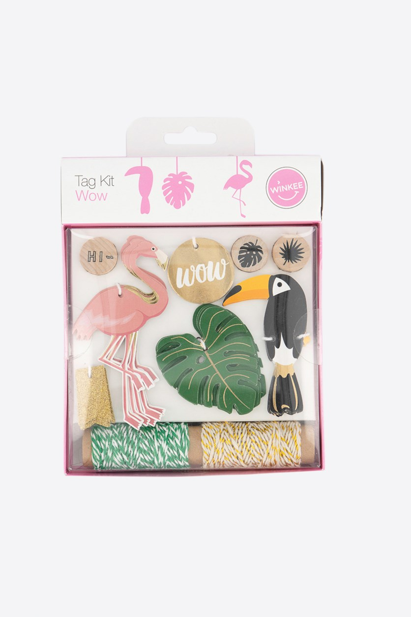 Wow Tag Kit, Pink/Green/Black