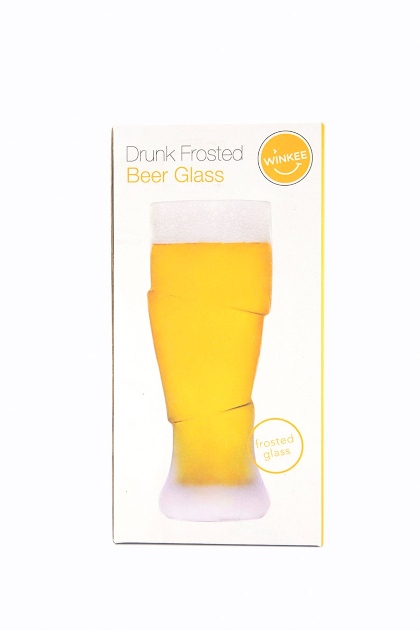 Drunk Frosted Beer Glass, Tranparent