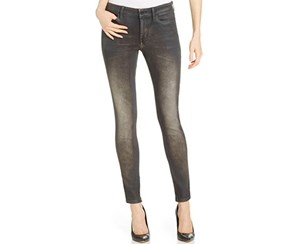 Calvin Klein Women's Faded Skinny Jeans, Black
