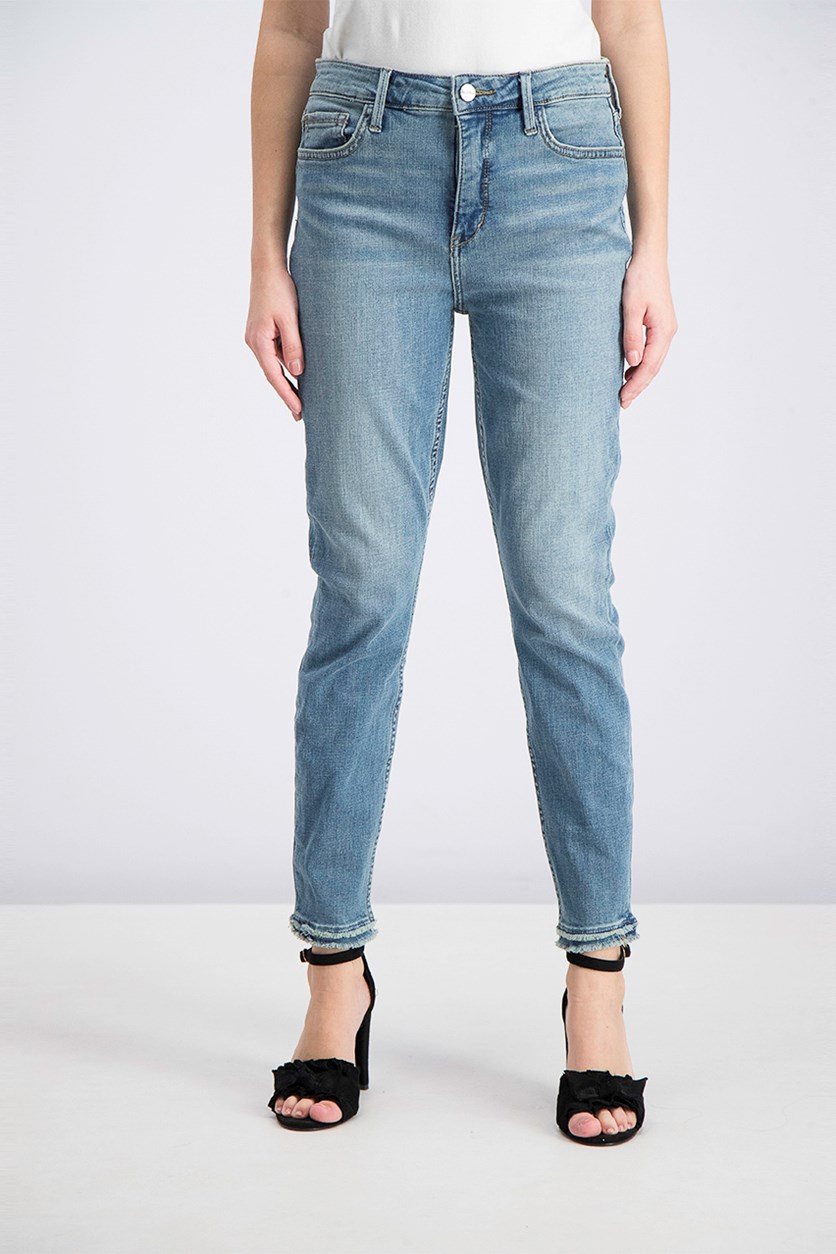Women's High Rise Skinny Ankle Jeans, Blue Washed