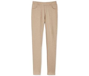 Epic Threads Girl's Doubleknit Shimmer Pants, Gold