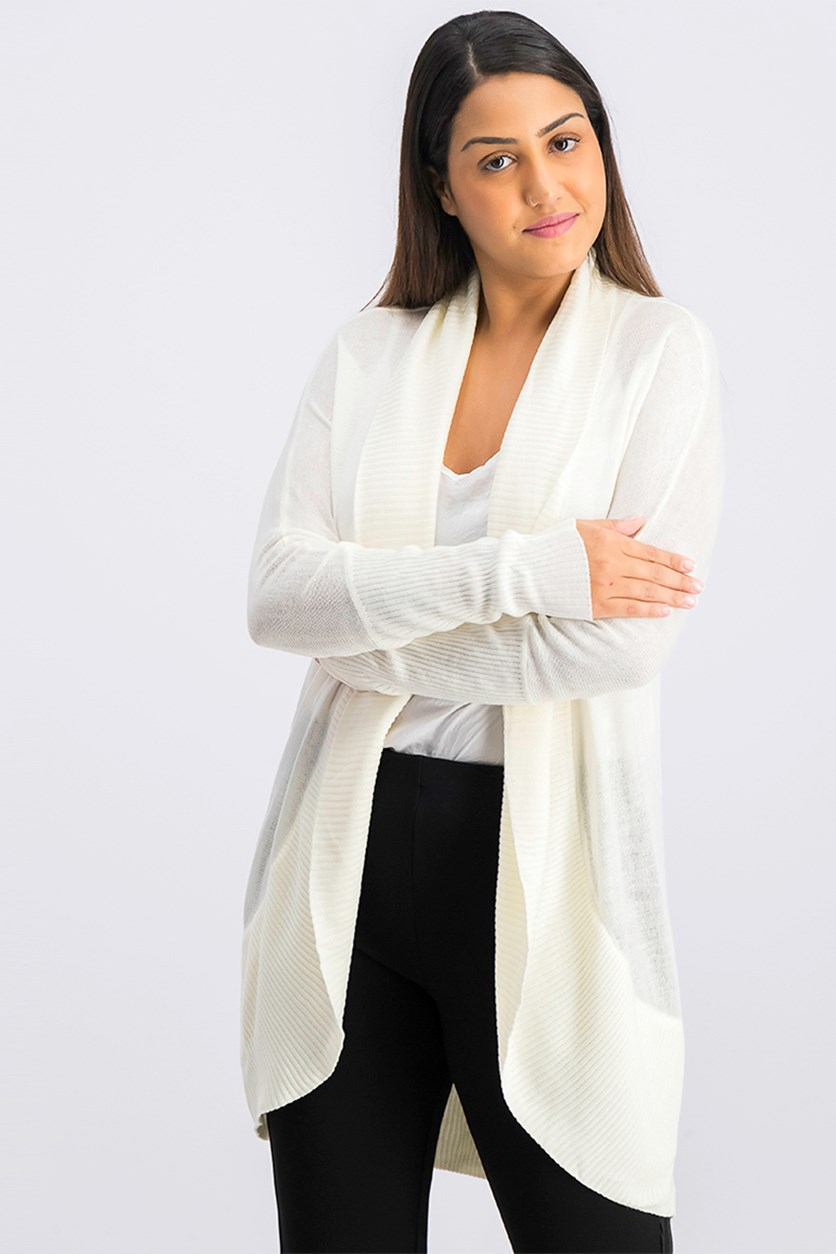 Women's Open Front Cardigan, Ivory