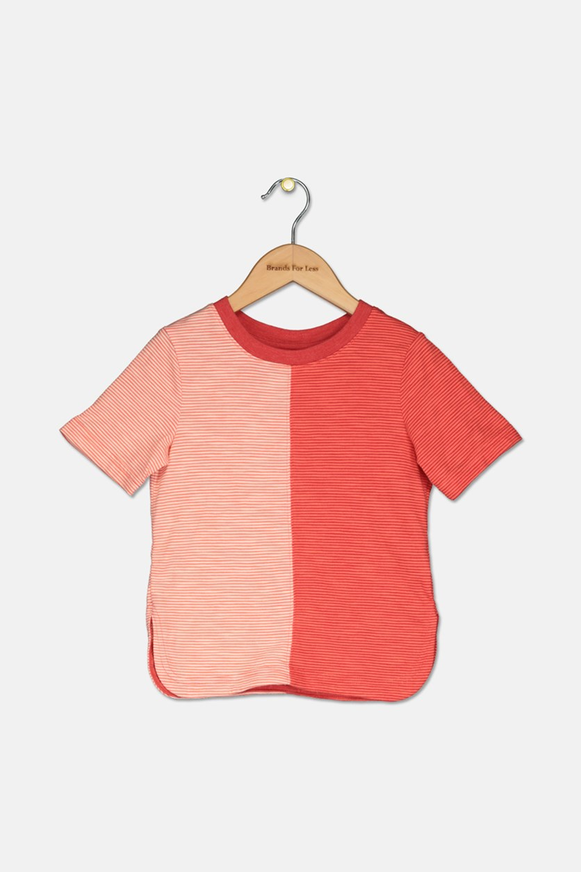 Toddler Boys' Stripe Tee, Dreamy Tangerine