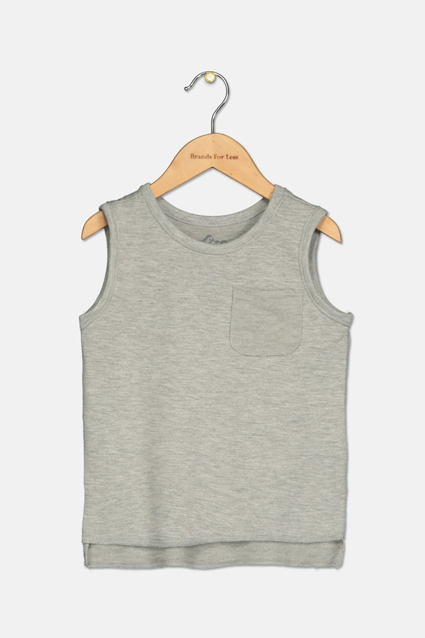 Toddler Boys' Sleeveless Muscle Tank Top, Heather Grey