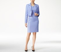 Le Suit Women's Textured Jacket & Sheath Dress, Light Purple