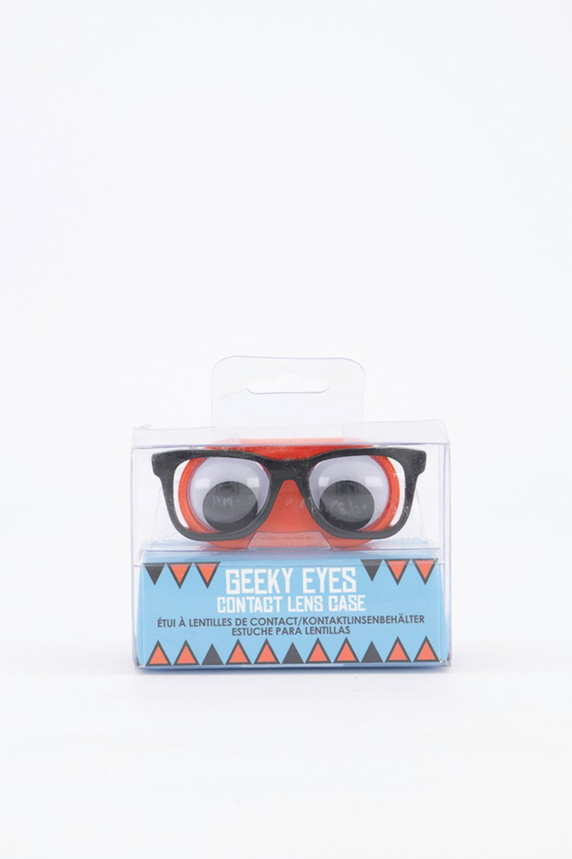 Geeky Eyes Contact Lens Case, Red