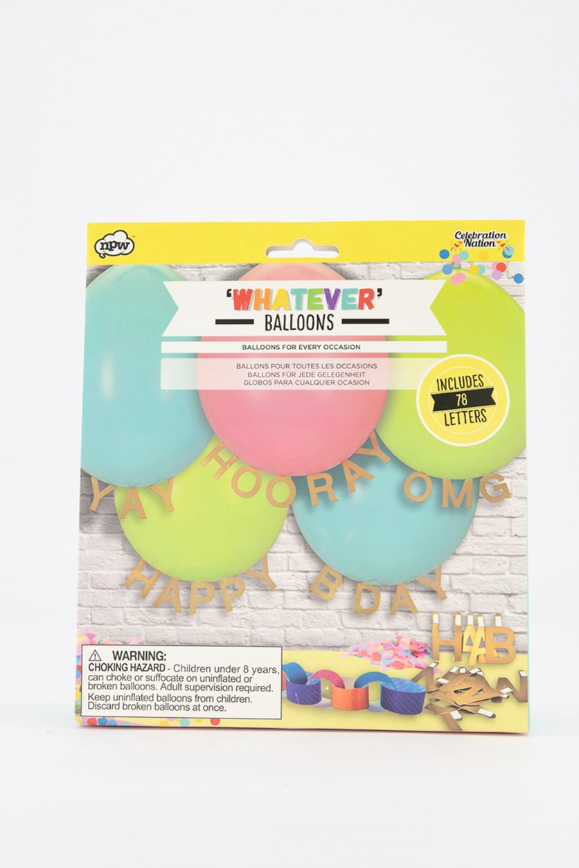 Whatever Balloons, Blue/Green/Pink