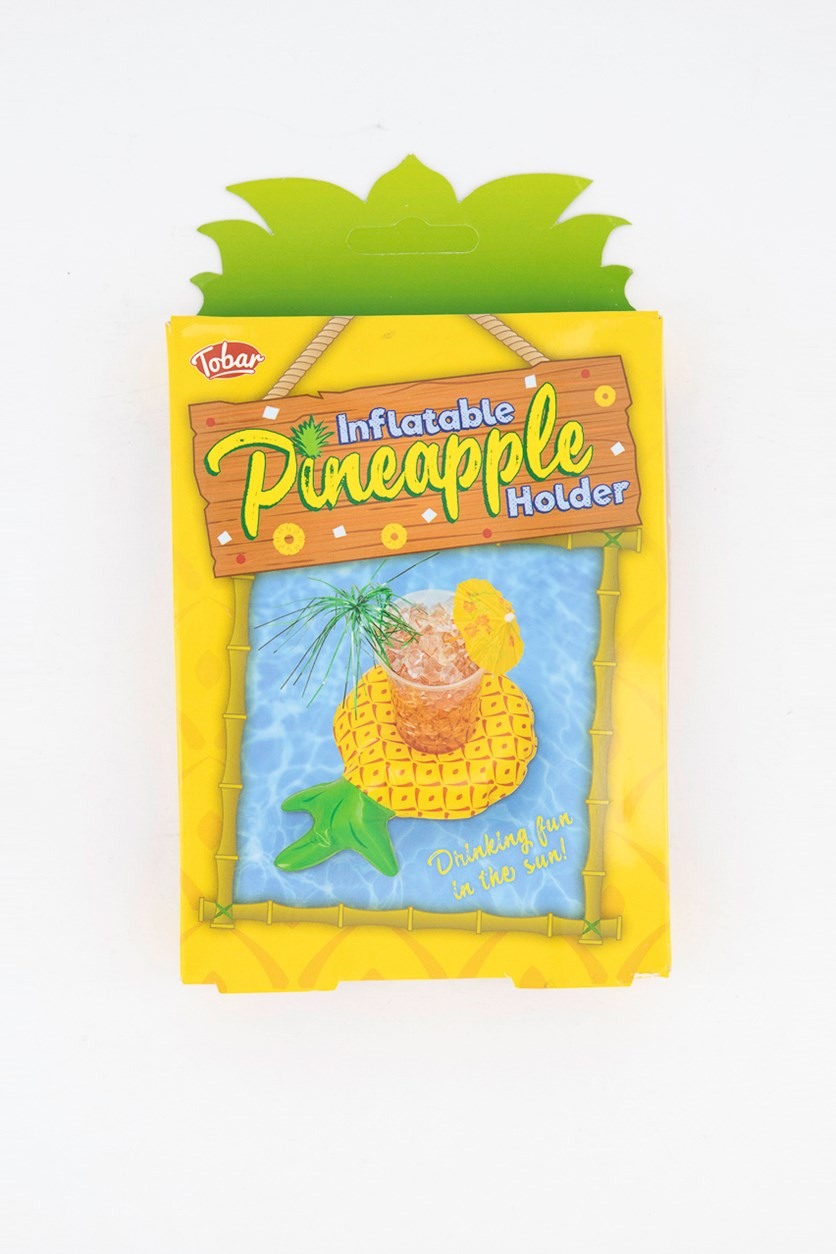 Inflatable Pineapple Drink Holder, Yellow