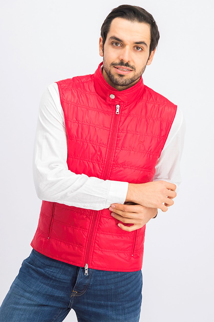 Men's Quilted Vest, Red