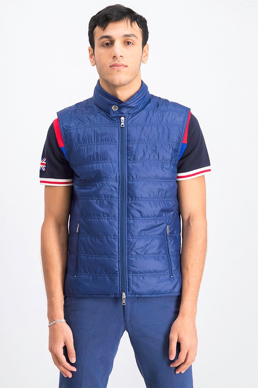 Men's Quilted Vest, Blue