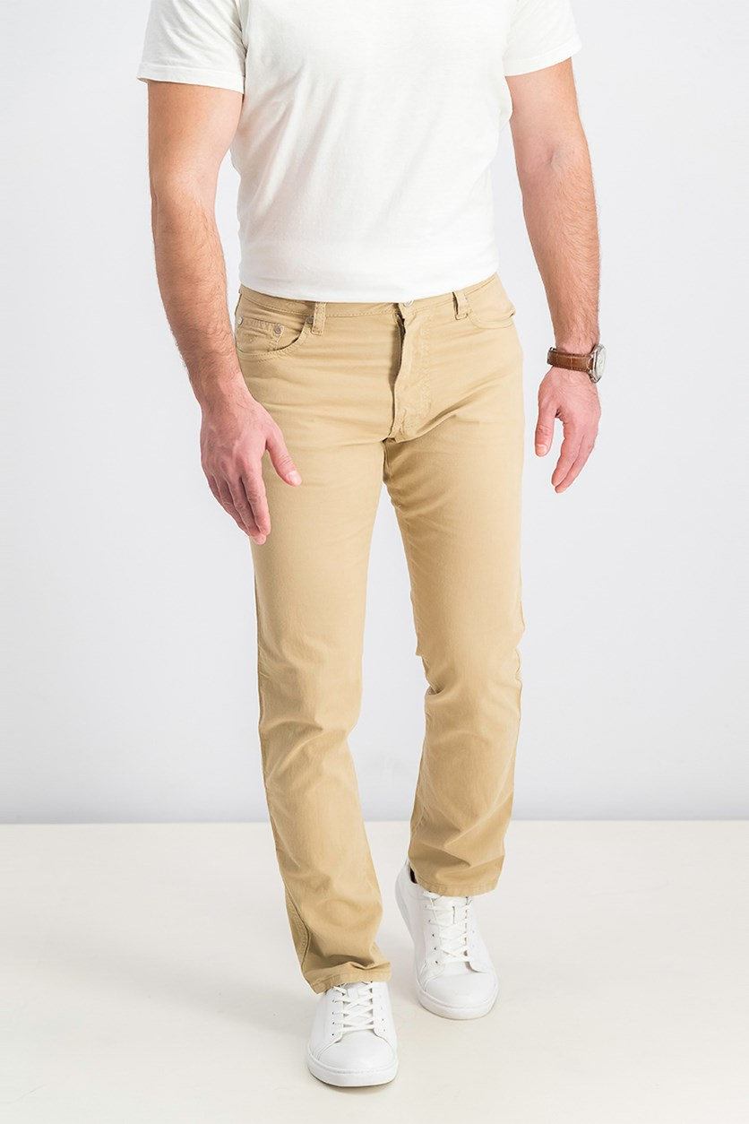 Men's Plain Five Pockets Pants, Sand