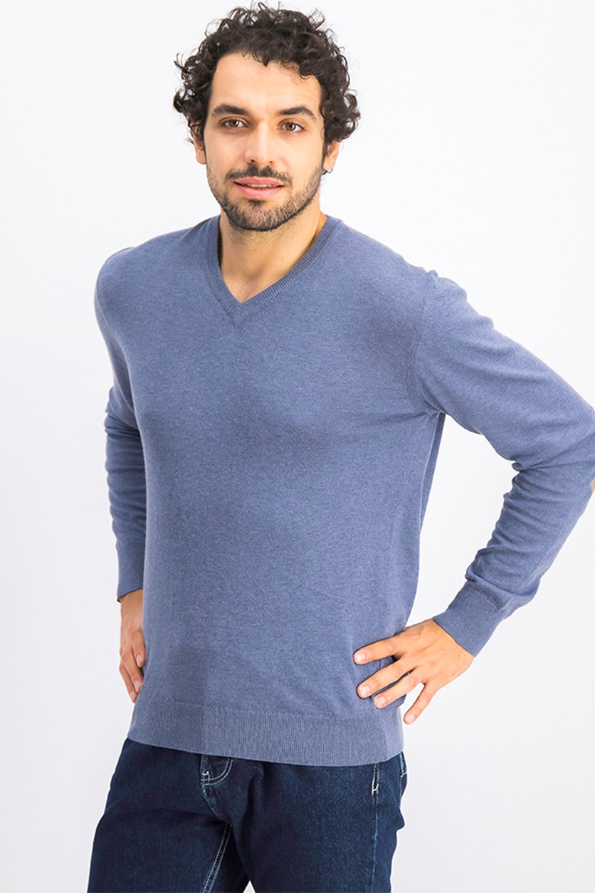 Men's Cotton Cashmere Sweatshirt, Indigo