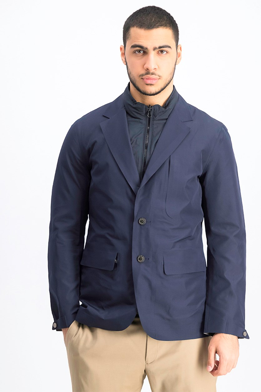 Men's Aston Martin Laser Cut Blazer, Navy