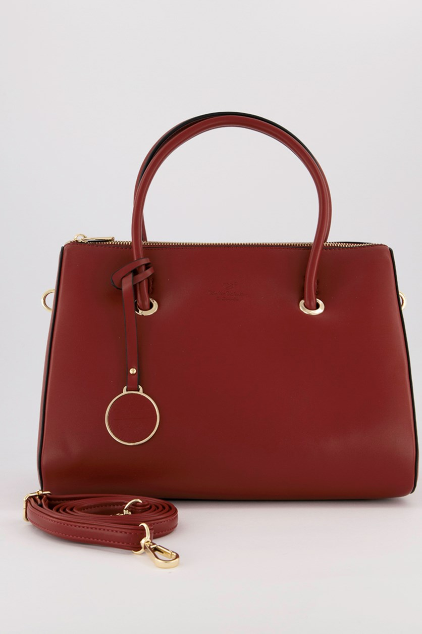 Women's Satchel Bags, Burgundy