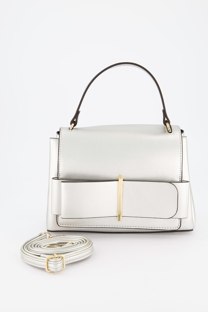 Women's Satchel Bag, Silver