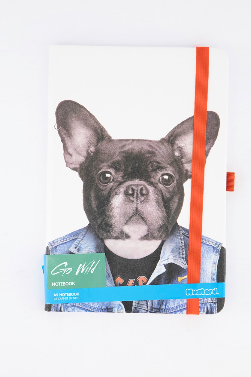 Go Wild Notebook Dog, White Combo
