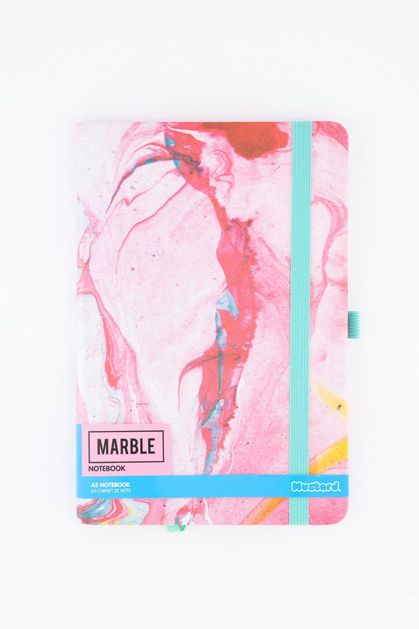 Marble Notebook, Pink