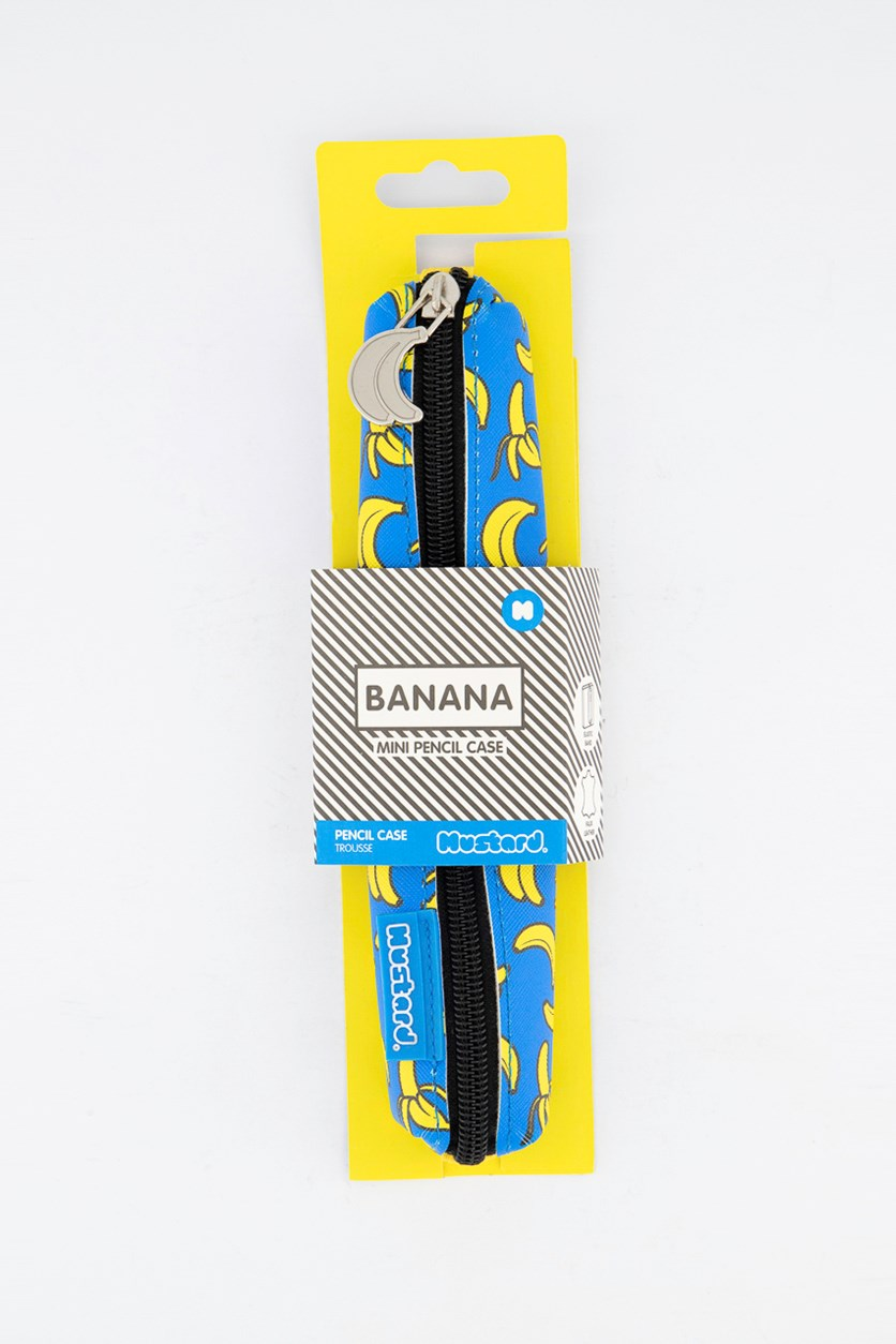 Banana Mini Pencil Case, Blue/Yellow