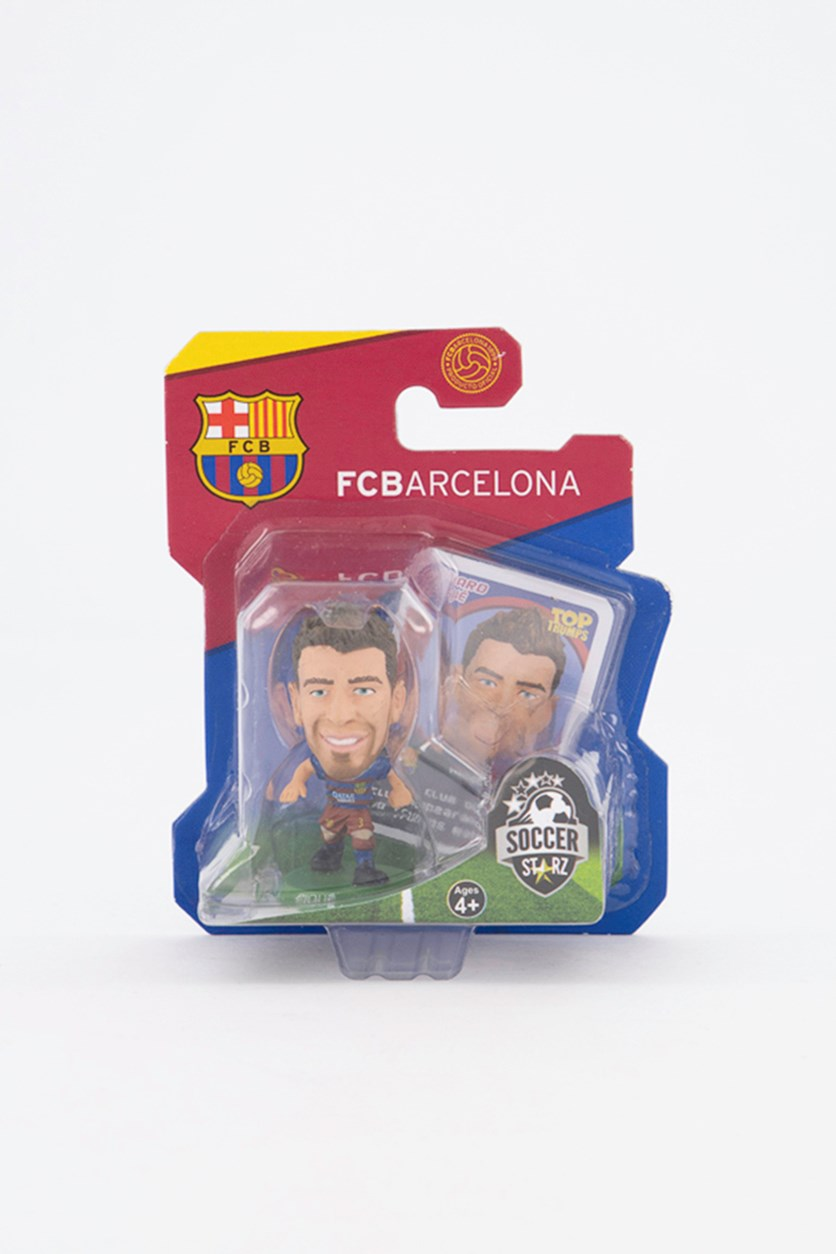 Barcelona Gerard Pique Figure, Blue/Red