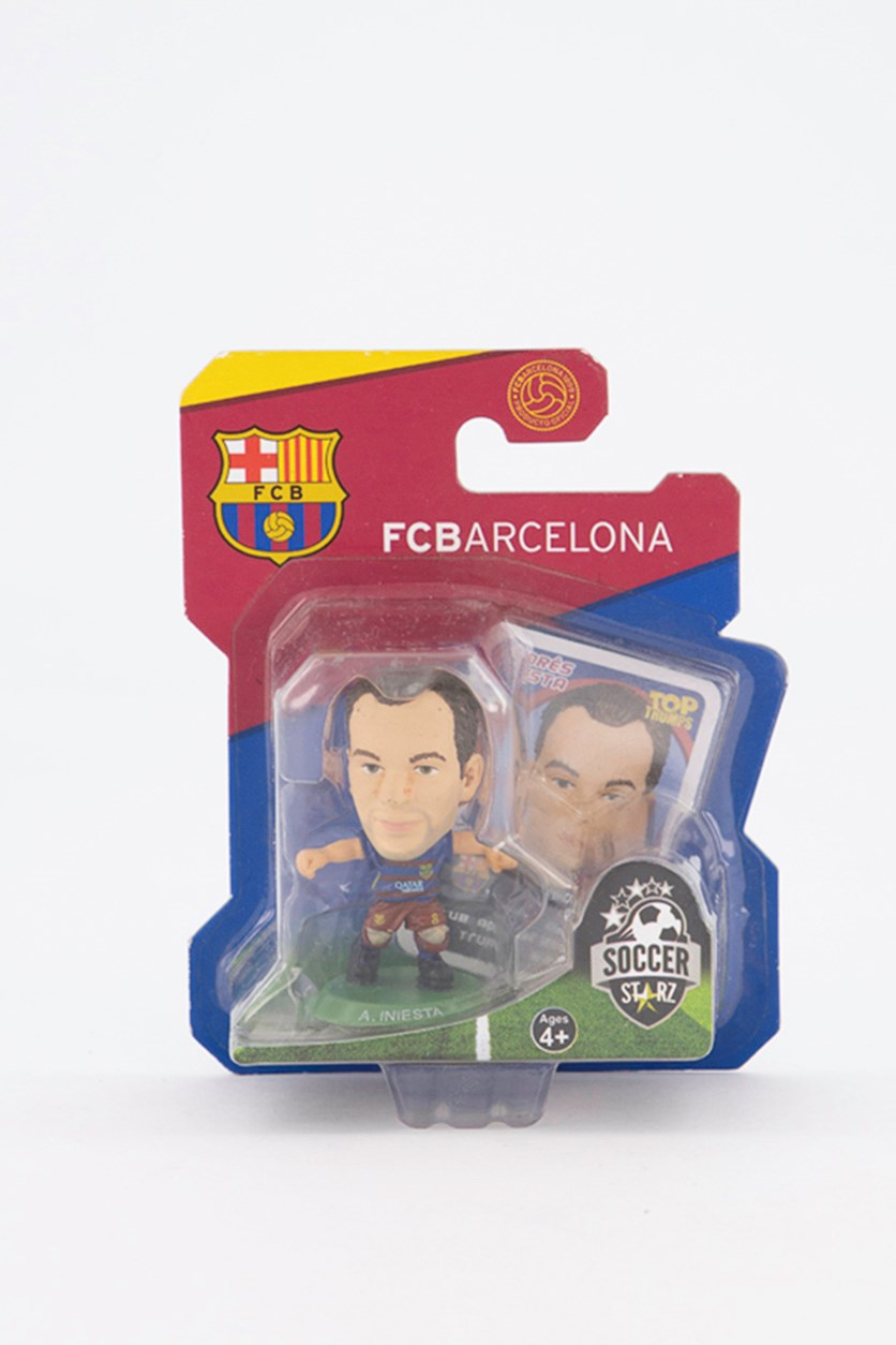 Barcelona Andres Iniesta Figure, Blue/Red