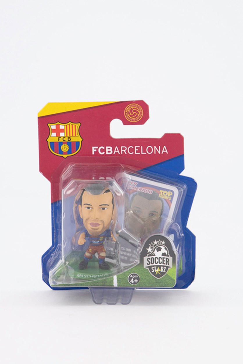 Barcelona Javier Mascherano Figure, Blue/Red