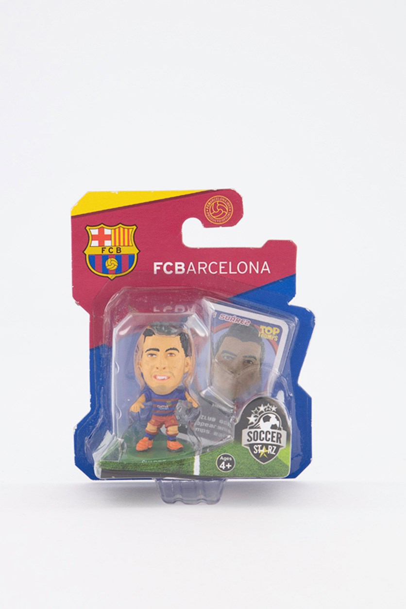 Barcelona Luis Suarez Figure, Blue/Red