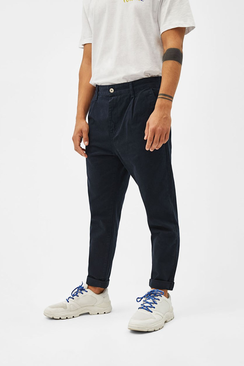 Loose Fit Chino Jeans, Navy