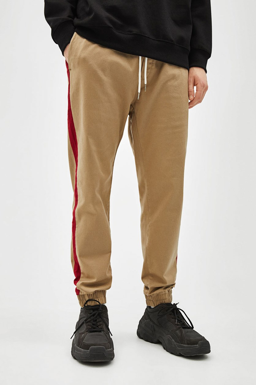 Men's Slim Fit Jogger Pants, Beige/Light Brown