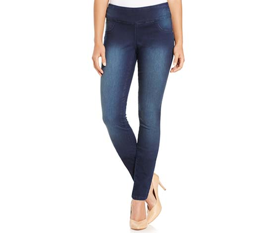 Style & Co. Women's Petite Curvy-Fit Pull-On Jeggings, Navy