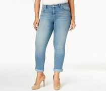 Style & Co. Plus Size Curvy-Fit Boyfriend Jeans, Highline