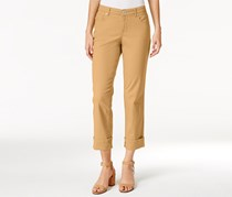 Style & Co. Women's Cuffed French Birch Wash Jeans, Khaki