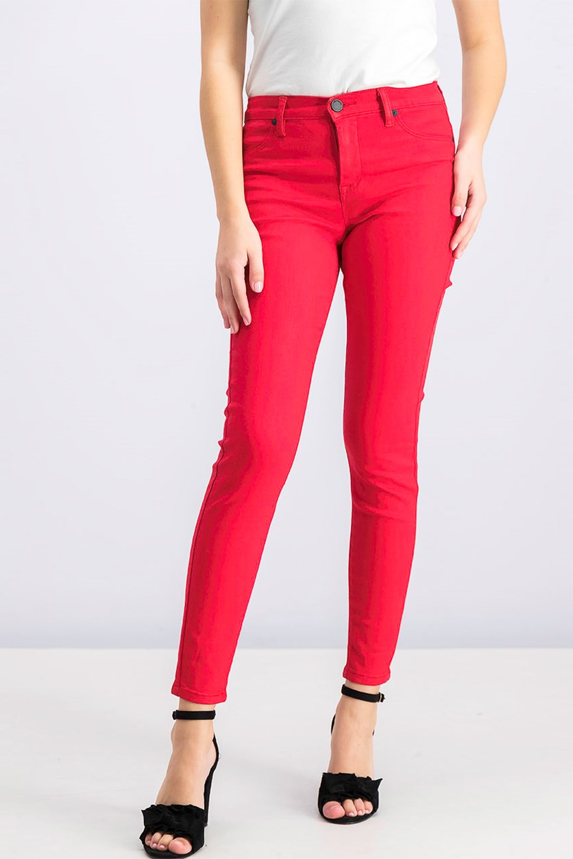 Women's The Mercer Super Skinny Jeans, Red