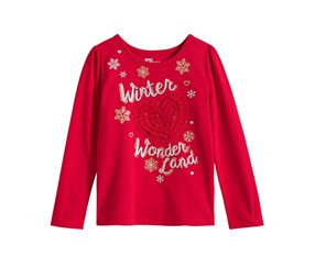 Epic Threads Girl's Graphic Top, Red