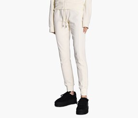 Puma Women's Fenty Velour Fitted Track Pant, White