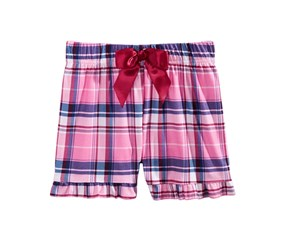 Max & Olivia Big Girls Printed Pajama Shorts, Pink