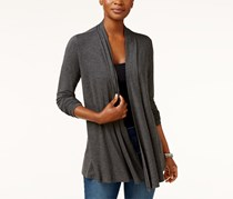 Karen Scott Women's Cascade Cardigan, Grey