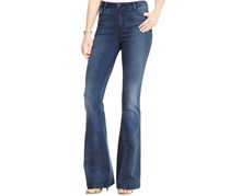 Suede Women's Slim Bootcut Jeans, Navy