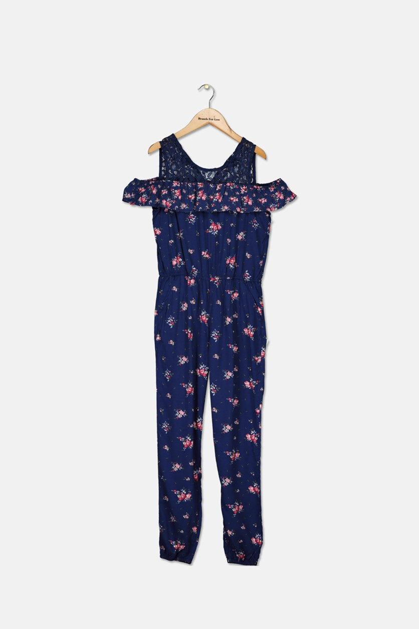 Big Girls Jumpsuit, Medieval Blue