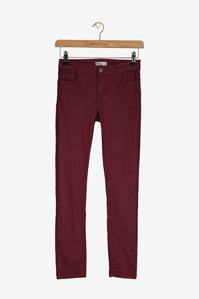 Big Girls Faded Jeans, Plum