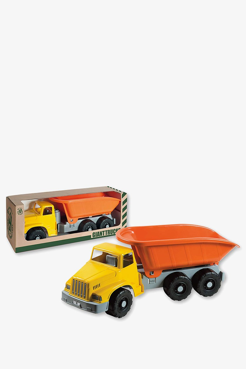 Giant Tipper Sand Summer Truck, Orange/Yellow/Gray