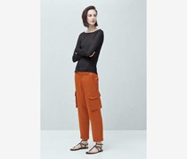 Satin Trousers, Rust
