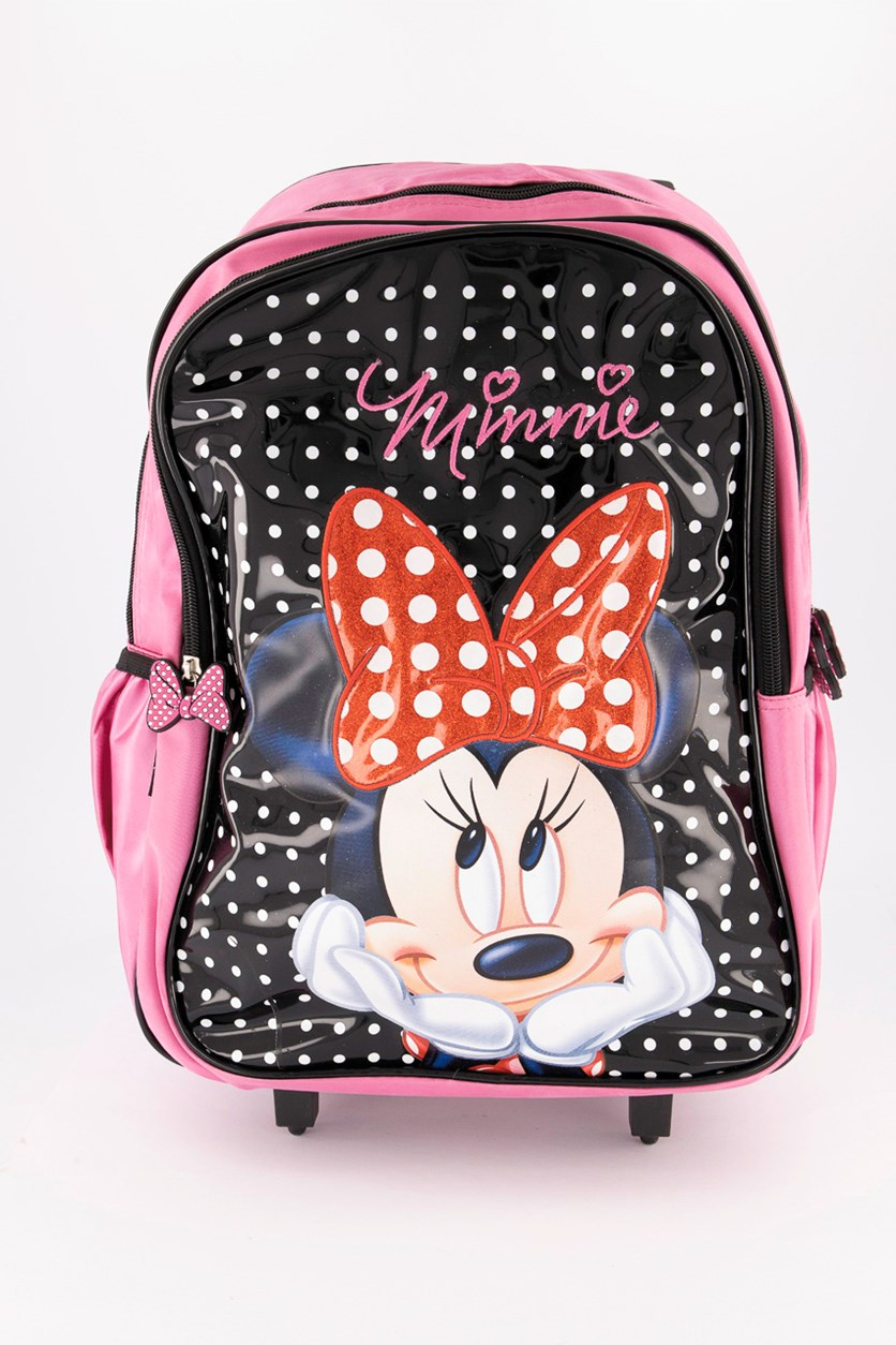Girl's Minnie Mouse Trolley Bag, Pink