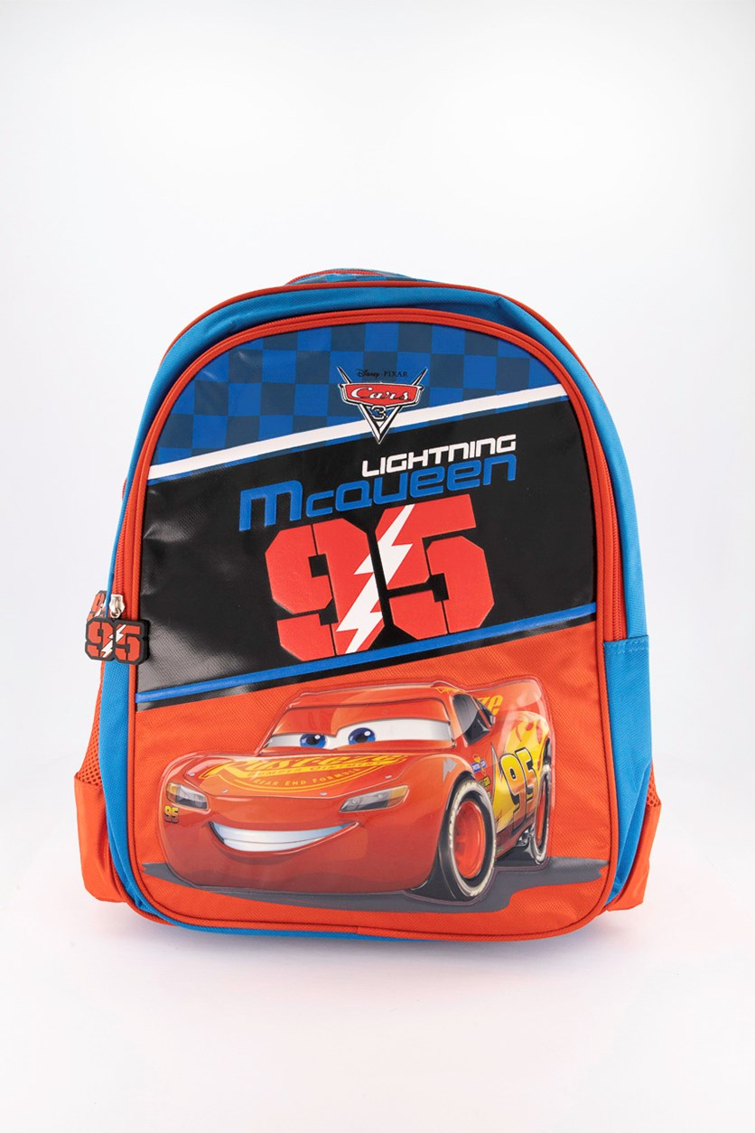 Boy's Disney Cars 3 95 Lightning Mcqueen Backpack, Blue/Red
