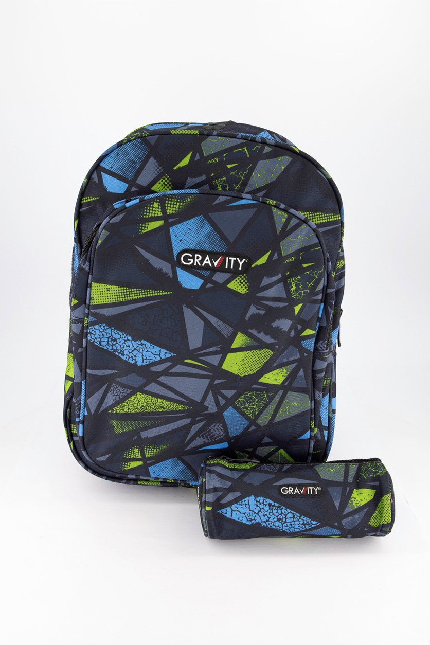 Gravity Broken Backpack, Green Combo