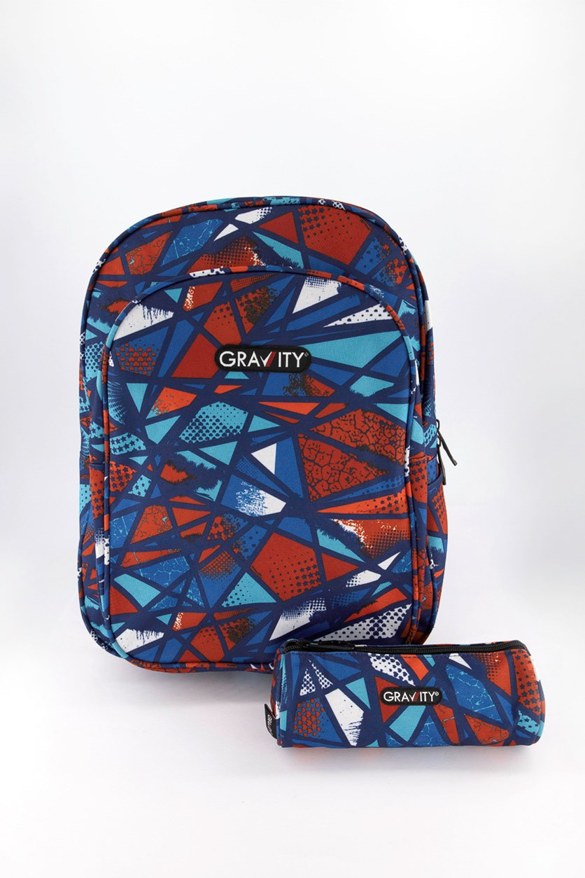 Gravity Volcano Broken Backpack, Red/Blue Combo