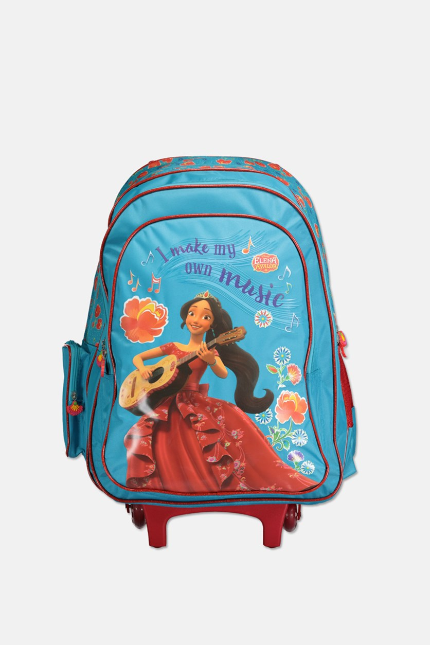 Girls Disney Elena Avalor Trolley Bag, Aqua Combo