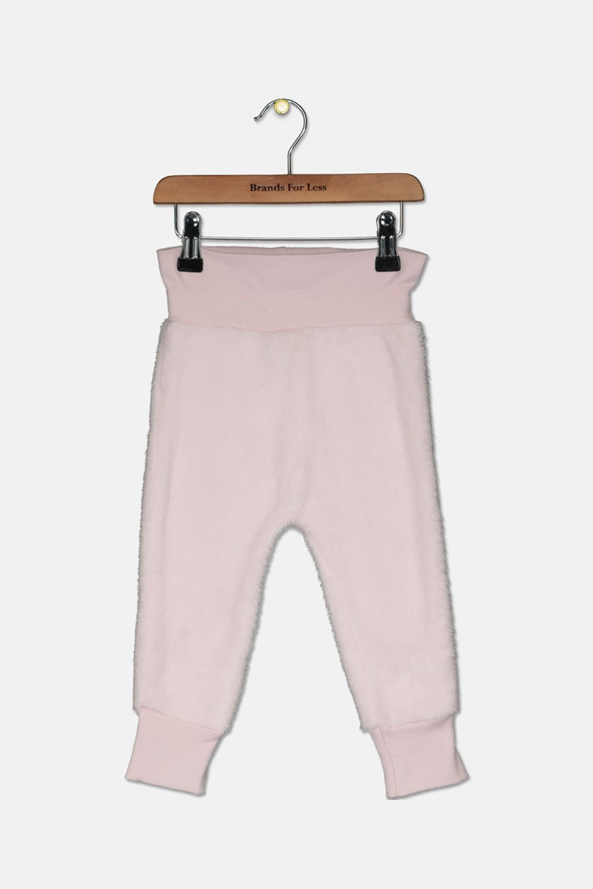 Baby Girls Fleece Jogger Pants, Sweet Mauve
