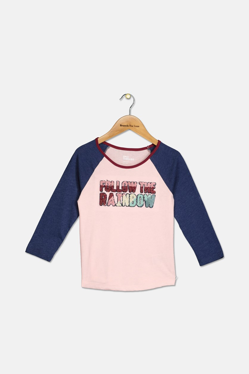 Epic Thread Kid's Girl Tops, Pink/Navy